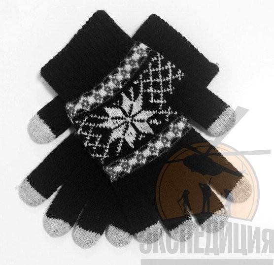 Дизайнерские перчатки для iPhone Зимняя ночь