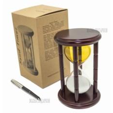 Песочные часы на 15 минут (цвет: желто-белый)
