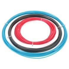 Голубой, розовый и серебристый пластик для 3D ручек ABS-3
