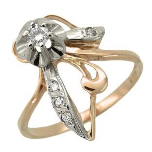 Кольцо с 5-ю бриллиантами