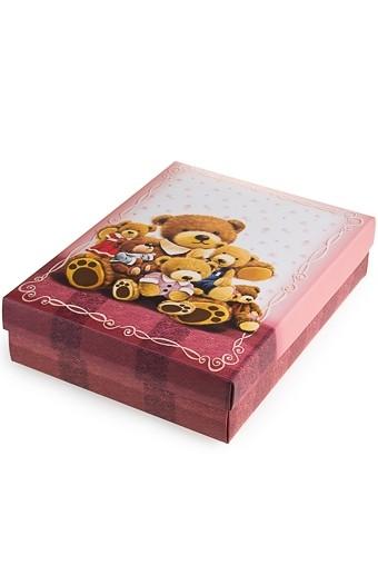 Коробка подарочная Мишуткина семья 27*20.5*6.8см