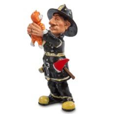 Статуэтка Пожарный с котенком