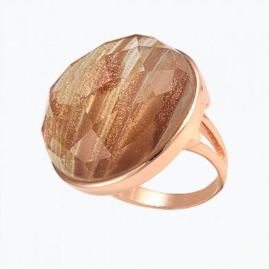 Кольцо серебряное с обсидианом.