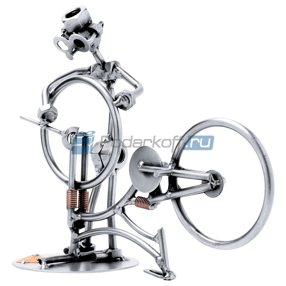 Статуэтка из металла Ремонт велосипеда