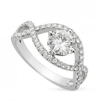 Роскошное кольцо с муассанитом Cora