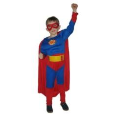 Детский карнавальный костюм Супермен с мускулатурой