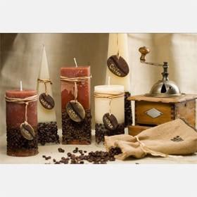 Свеча шар Кофе, 80 мм