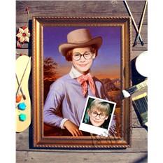 Портрет по фото Мальчик в шляпе