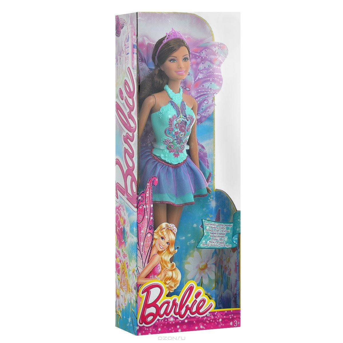 Кукла Barbie Фея в бирюзово-фиолетовом платье