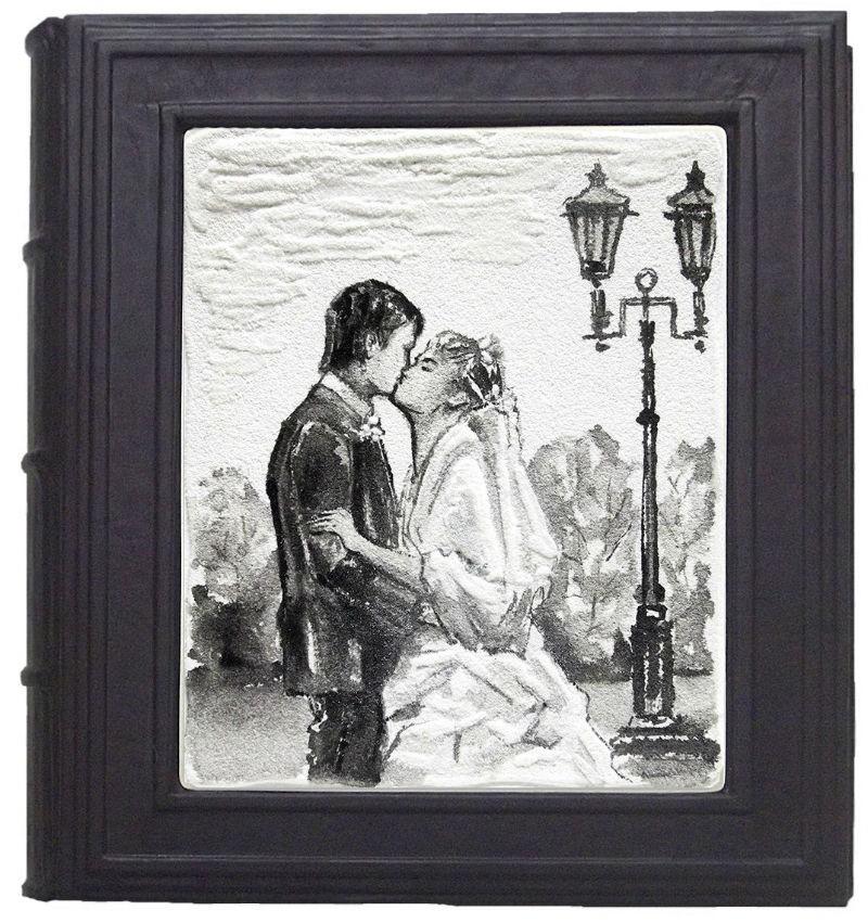 Фотоальбом со вставкой из кварцевого песка Наша свадьба
