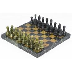 Шахматы из офиокальцита