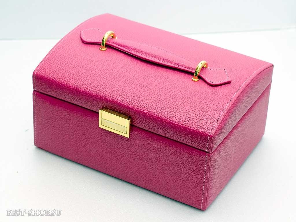 Шкатулка для ювелирных украшений розовая