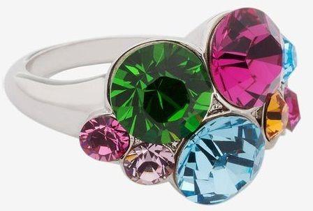 Кольцо с кристаллами Swarovski Водопад