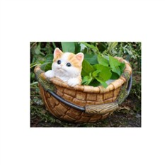 Кашпо «Котенок в корзине»