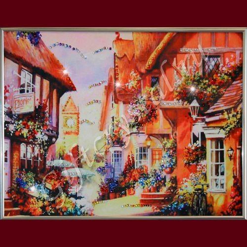 Картина со стразами Город