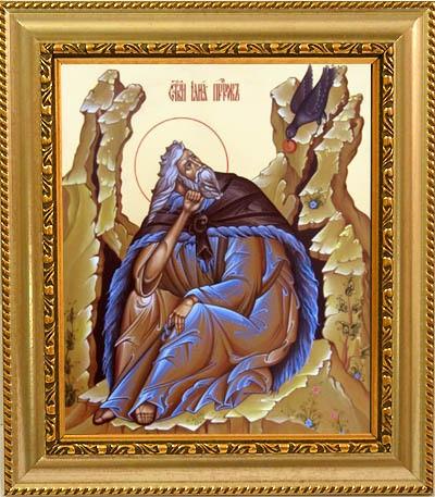Илья Пророк Фесфитянин. Икона на холсте.