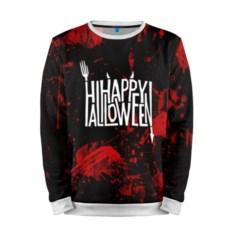 Мужской черно-красный свитшот Happy Halloween