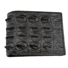 Мужской крокодиловый бумажник черного цвета