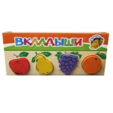 Деревянная рамка-вкладыш Фрукты-ягоды