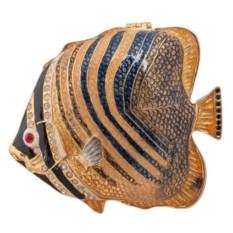 Шкатулка Рыба (цвет: золотистый)