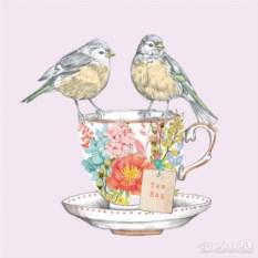 Бумажные салфетки Tea for two birds