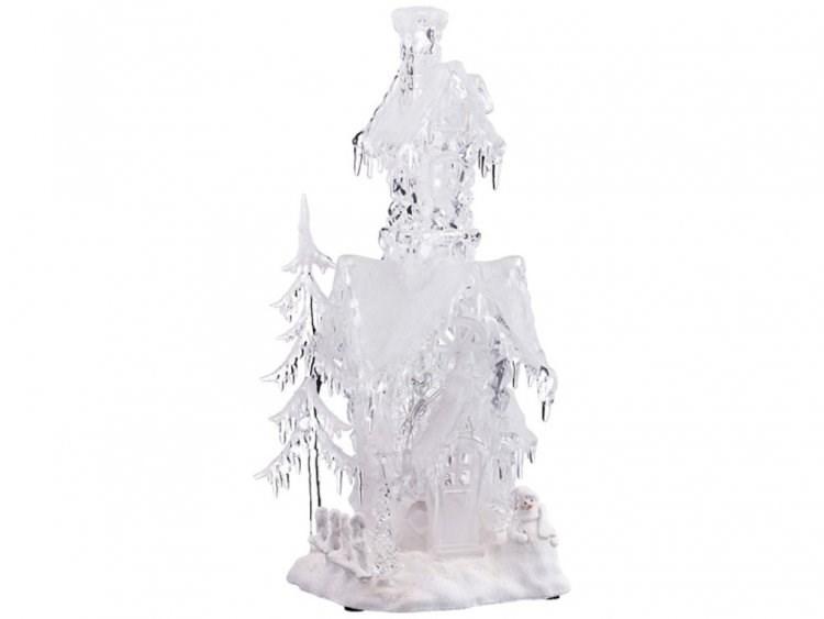 Фигурка с подсветкой Лесной домик деда мороза