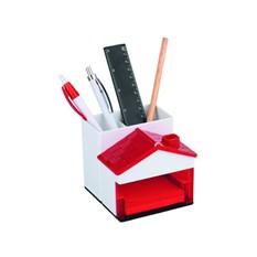 Набор для канцелярских принадлежностей в виде домика, красный
