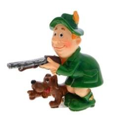 Декоративная фигурка Охотник с собакой и ружьем