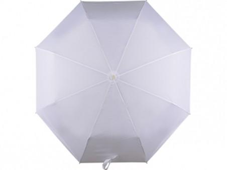Белый складной автоматический зонт