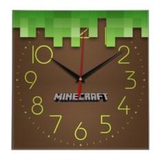 Настенные часы в стиле Minecraft