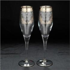 Свадебные фужеры для шампанского Cristal Robert Line