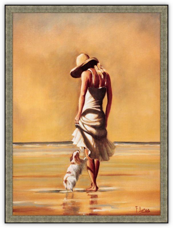 Постер Девушка с собачкой (Ненси Флорес)