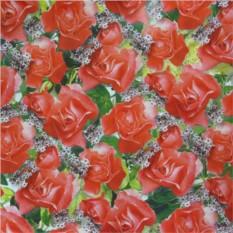 Подарочная бумага с красными розами