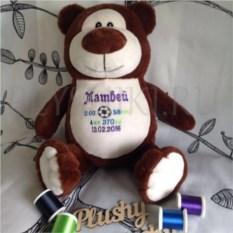 Мягкая именная игрушка Коричневый медведь