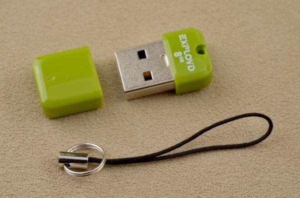 Флешка-брелок Exployd USB 2.0 8 Gb (салатовая)
