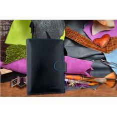 Синий портмоне из кожи Dor.Flinger