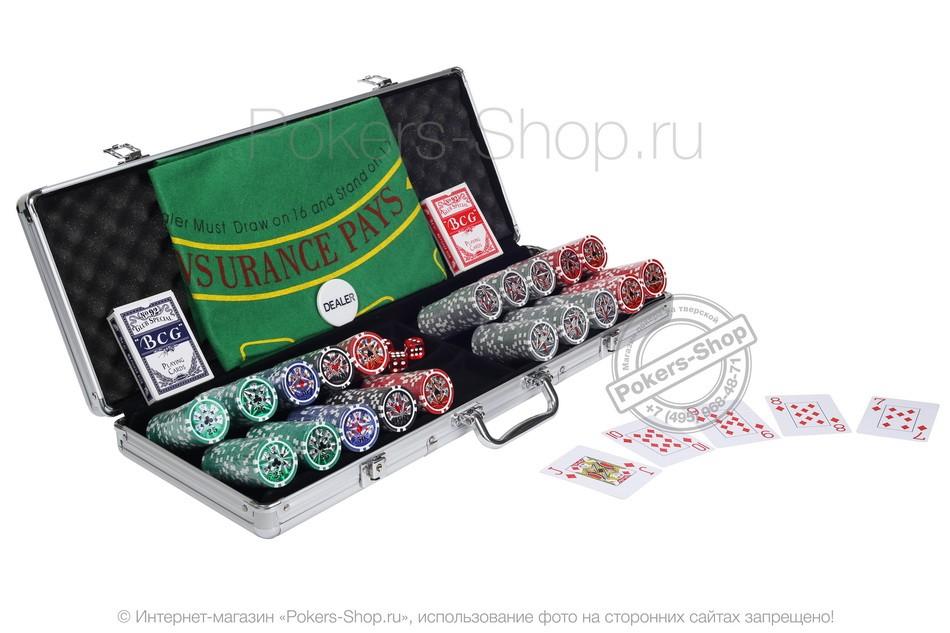 Набор для покера Ultimate Maniac на 500 фишек Lite