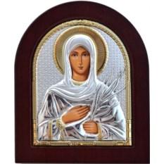 Икона в серебряном окладе Татиана Римская Святая мученица