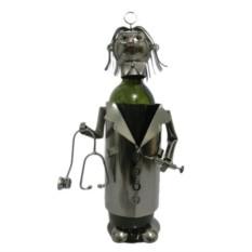 Декор бутылки из металла Доктор