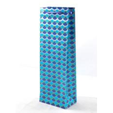 Подарочный пакет под бутылку Новогодний 12*36см