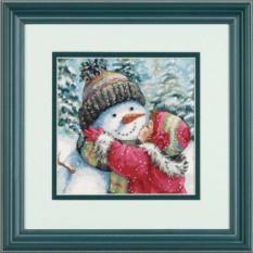 Набор для вышивания Поцелуй для снеговика