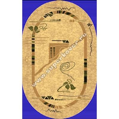 Люберецкий ковер Супер акварель 99108-25 овальный