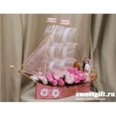 Букет из конфет Полный вперед (свадебный)