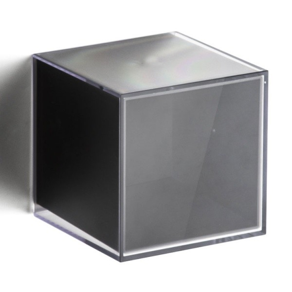 Прозрачно-черная полка-вешалка Pixel