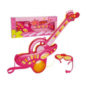 Электронная гитара с очками и микрофоном