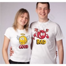 Парные футболки Good Bad