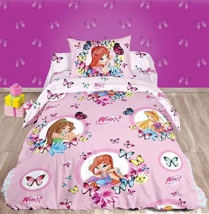 Детское постельное белье из ранфорса Winx Бабочки