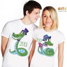 Парные футболки Змейки
