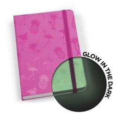 Светящаяся в темнот записная книжка glowbook (цвет: фуксия)