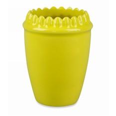 Зубастый стакан желтый